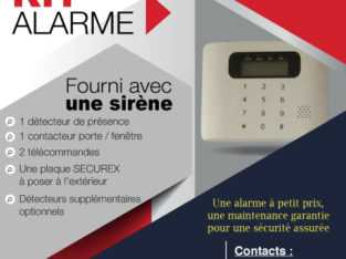 LOCATION DE KIT ALARME DISPONIBLE CHEZ SECUREX